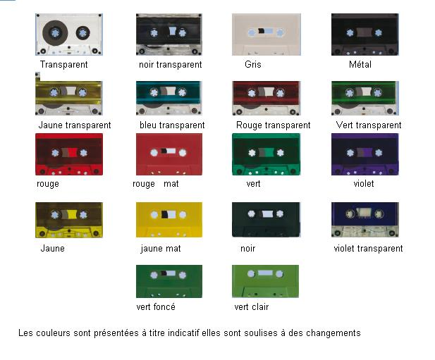 photos cassettes couleur